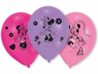 Balonky latex Minnie Mouse 26 cm, 10 ks