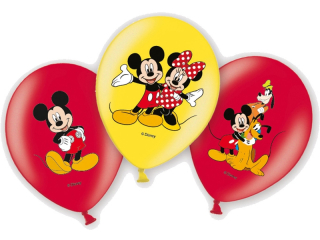 Balonky latex Mickey Mouse 28 cm, 6 ks