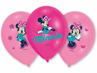 Balonky latex Minnie Mouse 28 cm, 6 ks