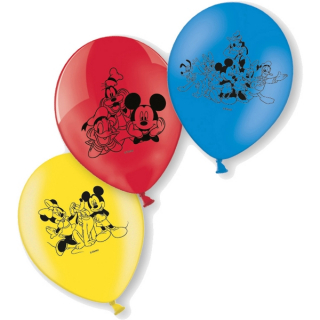 Balonky latex Mickey Mouse 23 cm, 6 ks