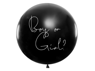 Jumbo balon konfety Boy or Girl? růžové
