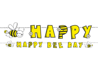 Banner Happy Bee Day Včela
