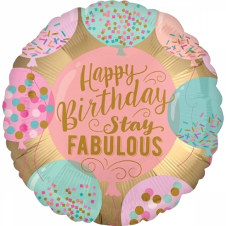 Balonek foliový Happy Birthday Stay Fabulous