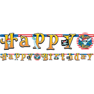 Banner Happy Birthday Piráti