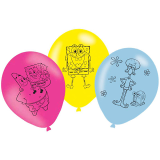 Balonky latex Spongebob 28 cm, 6 ks
