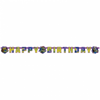 Banner Happy Birthday Želvy Ninja