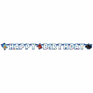 Banner Happy Birthday Angry Birds