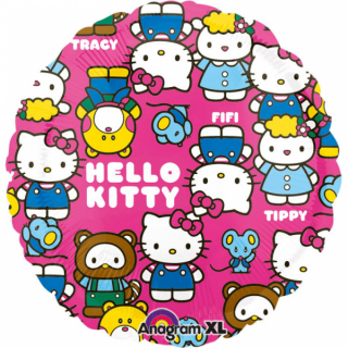 Balonek fóliový Hello Kitty multiface, 43 cm