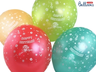 Balonek latex Happy Birthday