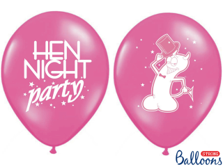 Balonek latex rozlučka růžový Hen Night Party, 30 cm